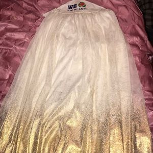 white and gold ombré skirt